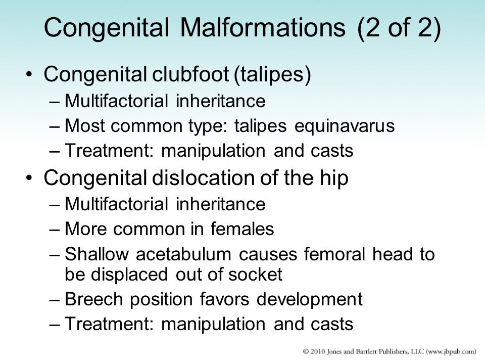Congenital Malformations (2 of 2)