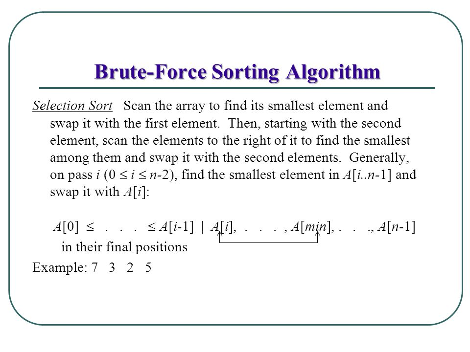 how to avoid brute force in algorithms
