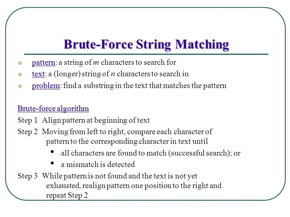 Brute-Force String Matching