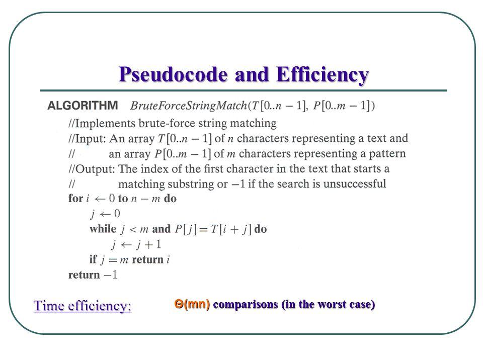 Pseudocode and Efficiency