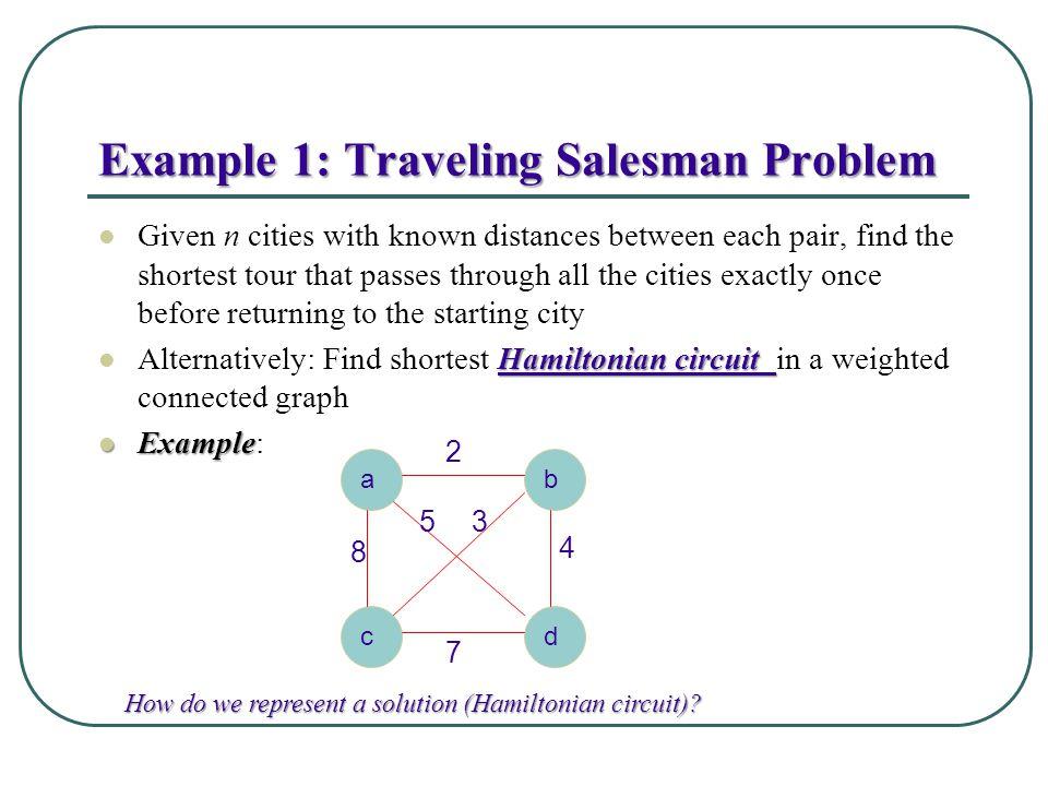 Example 1: Traveling Salesman Problem