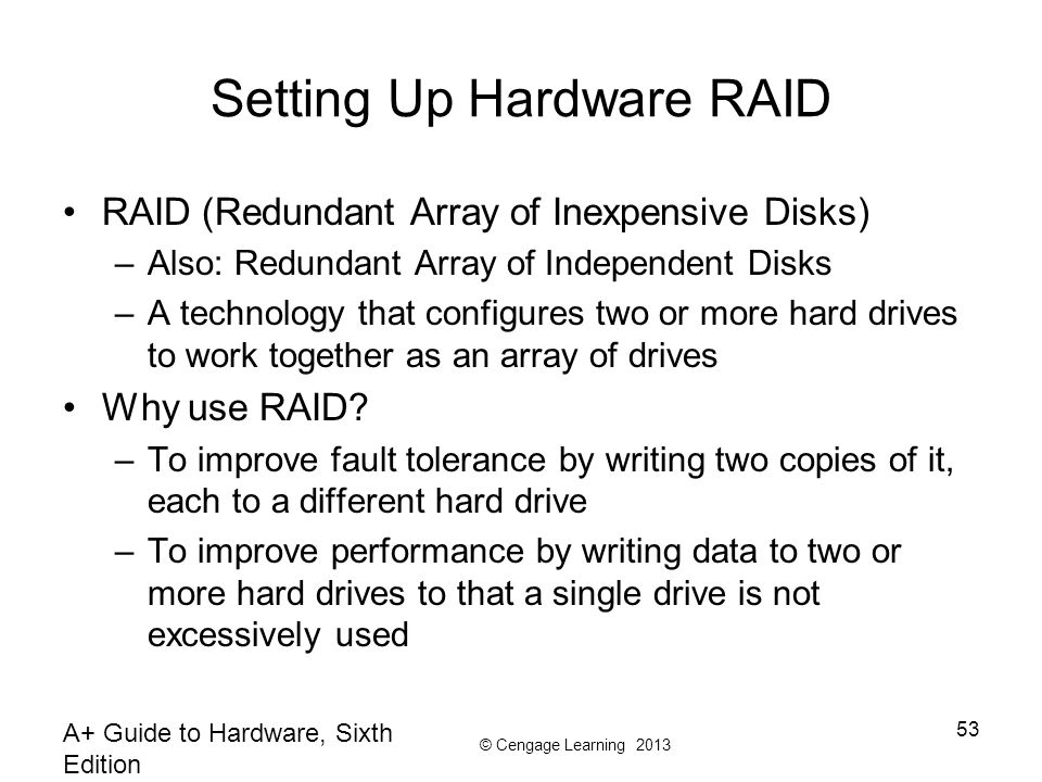 Setting Up Hardware RAID