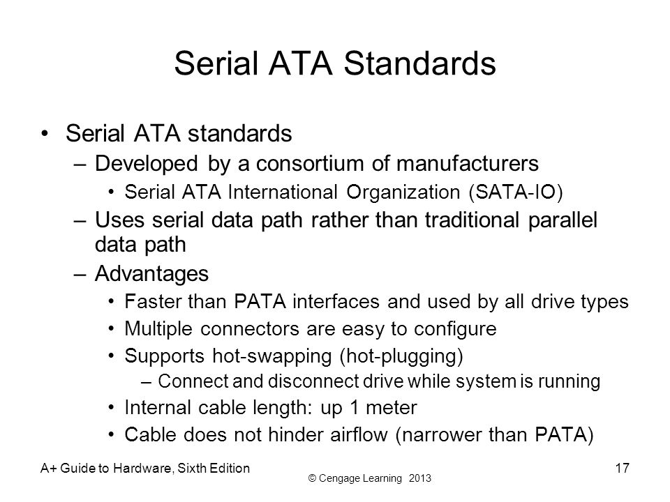 Serial ATA Standards Serial ATA standards