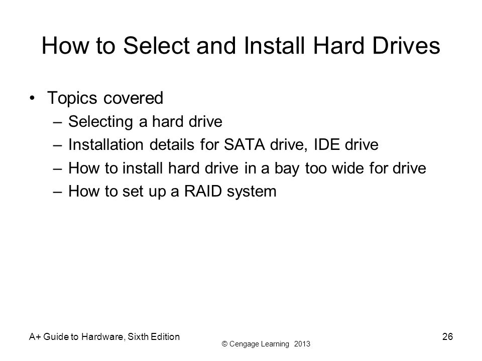 How to Select and Install Hard Drives