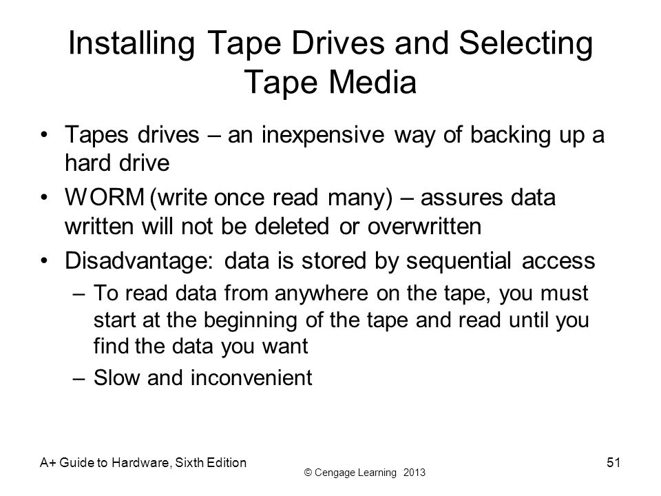 Installing Tape Drives and Selecting Tape Media