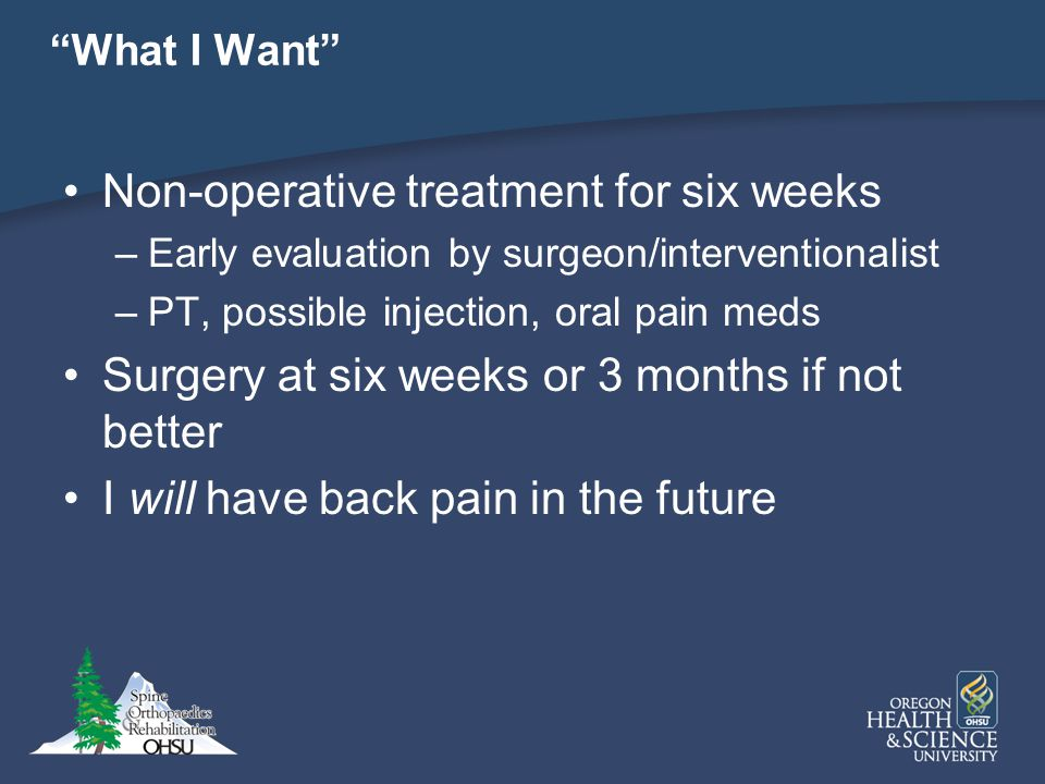 Non-operative treatment for six weeks