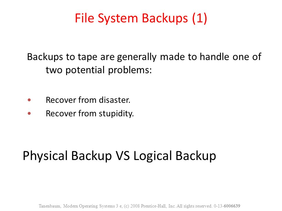 Physical Backup VS Logical Backup