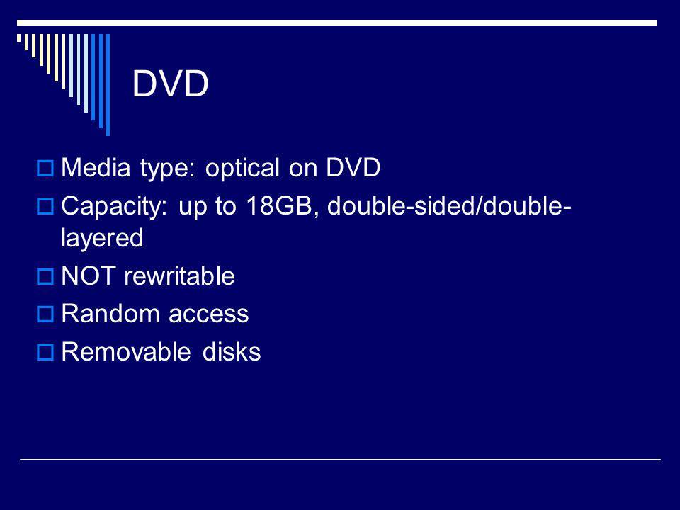 DVD Media type: optical on DVD