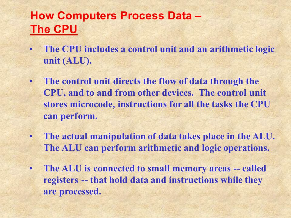 How Computers Process Data – The CPU