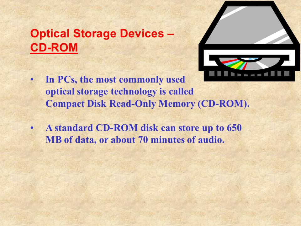 Optical Storage Devices – CD-ROM
