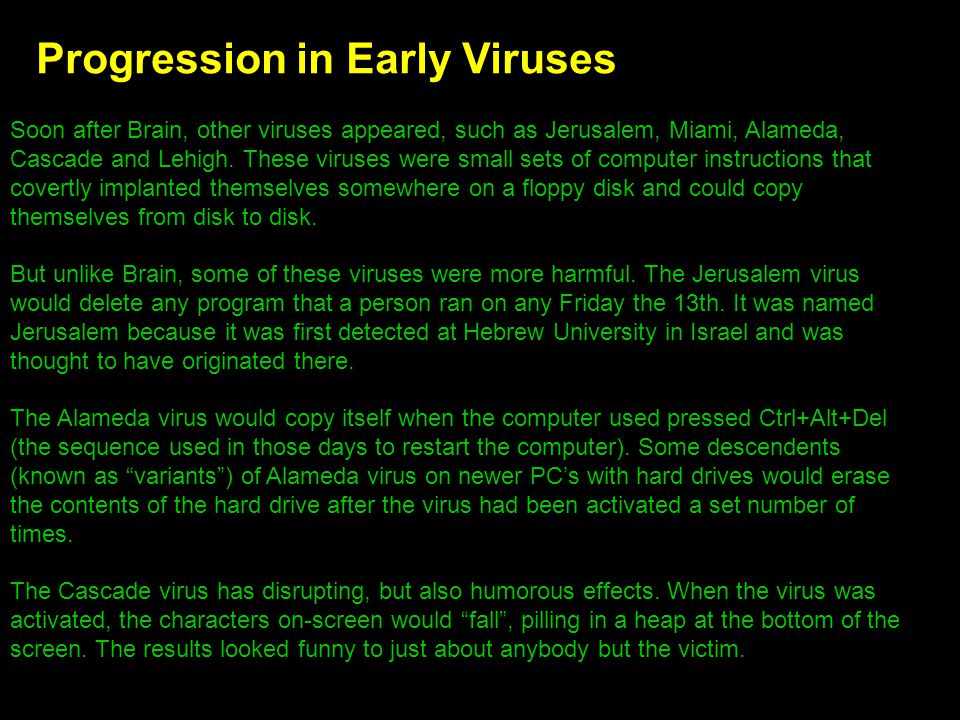 Progression in Early Viruses