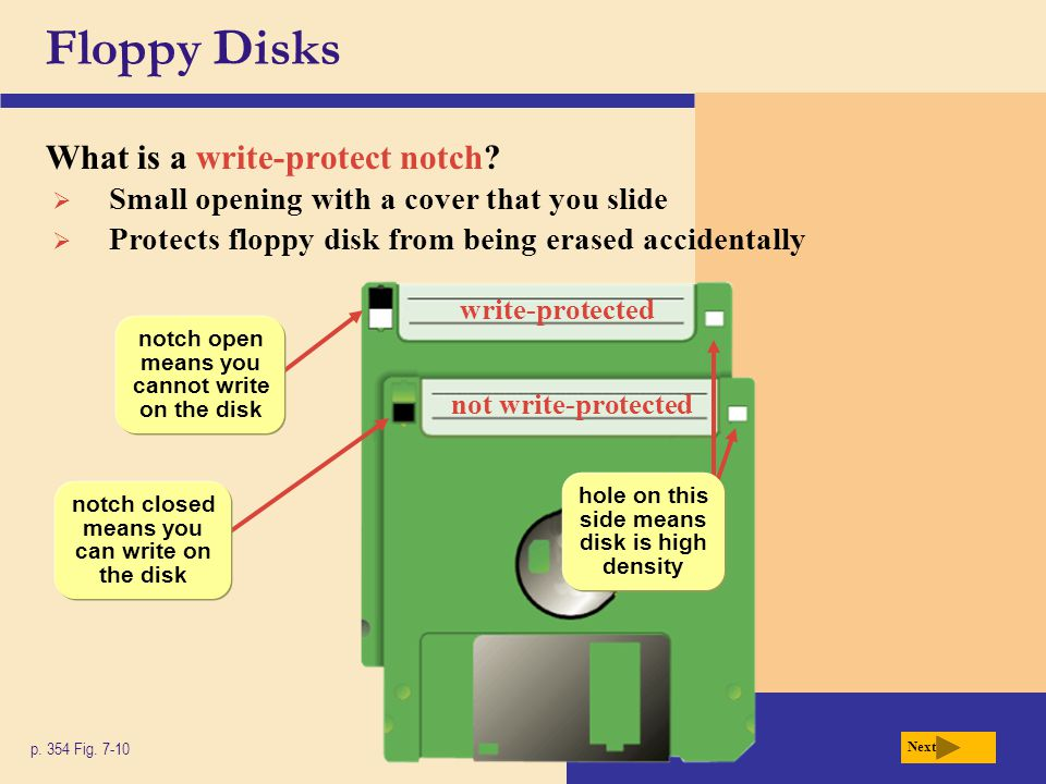 Floppy Disks What is a write-protect notch
