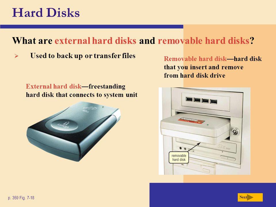 Hard Disks What are external hard disks and removable hard disks