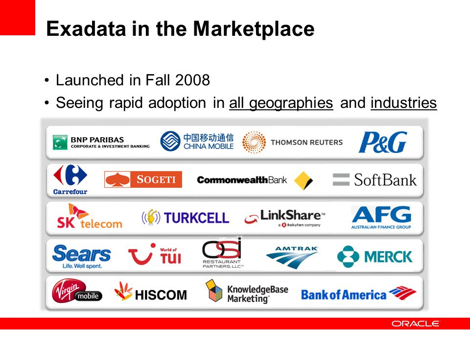 Exadata in the Marketplace