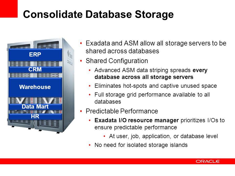 Consolidate Database Storage