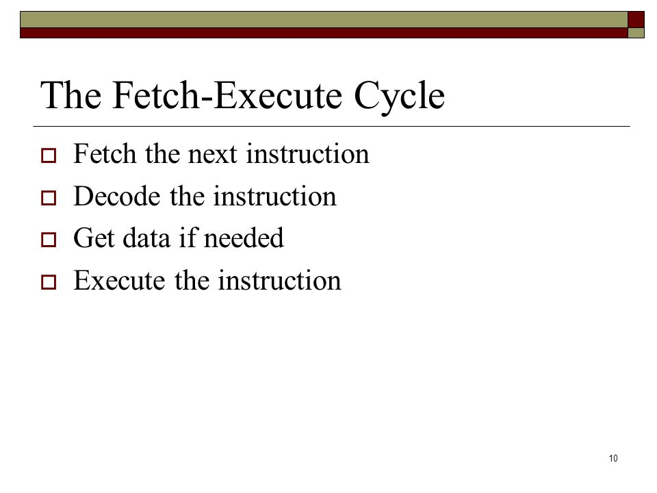 The Fetch-Execute Cycle