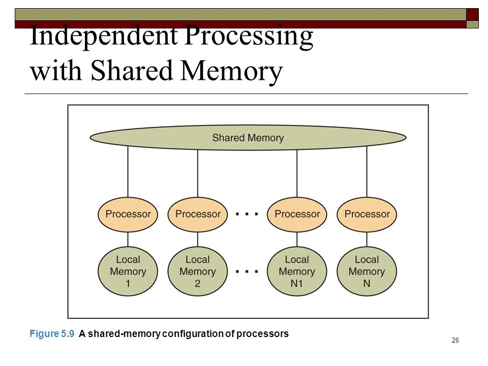 Independent Processing with Shared Memory