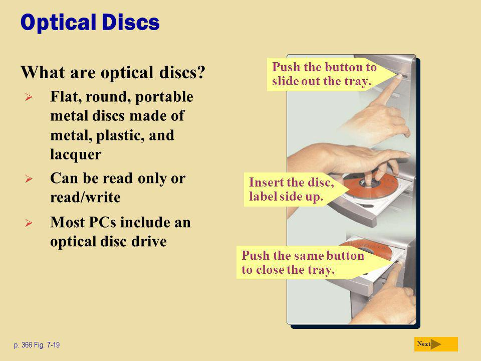 Optical Discs What are optical discs