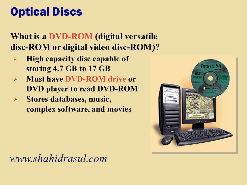 Optical Discs www.shahidrasul.com