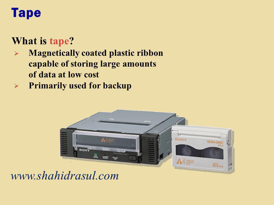 Tape www.shahidrasul.com What is tape
