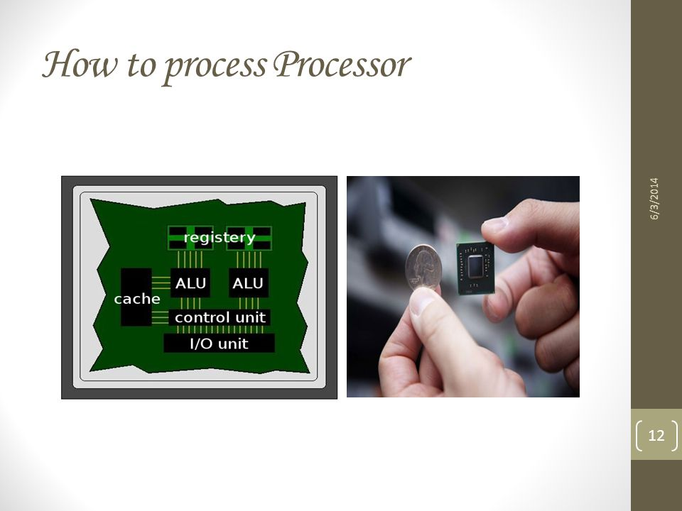 How to process Processor
