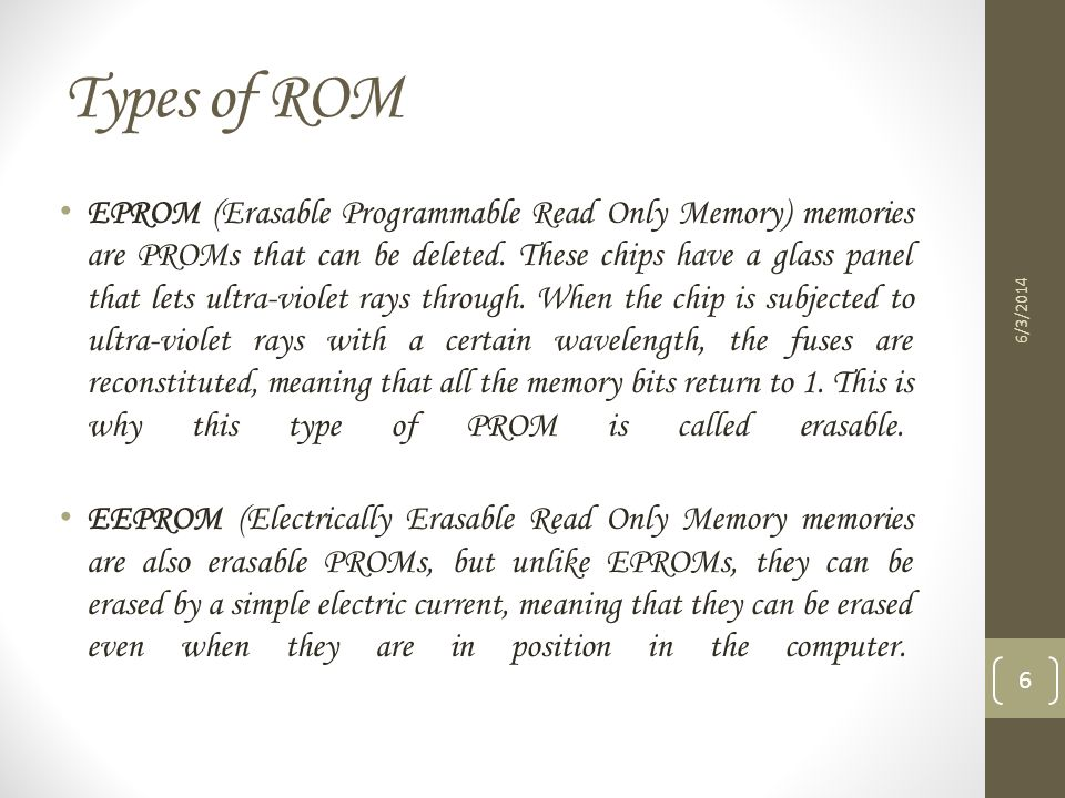 Types of ROM