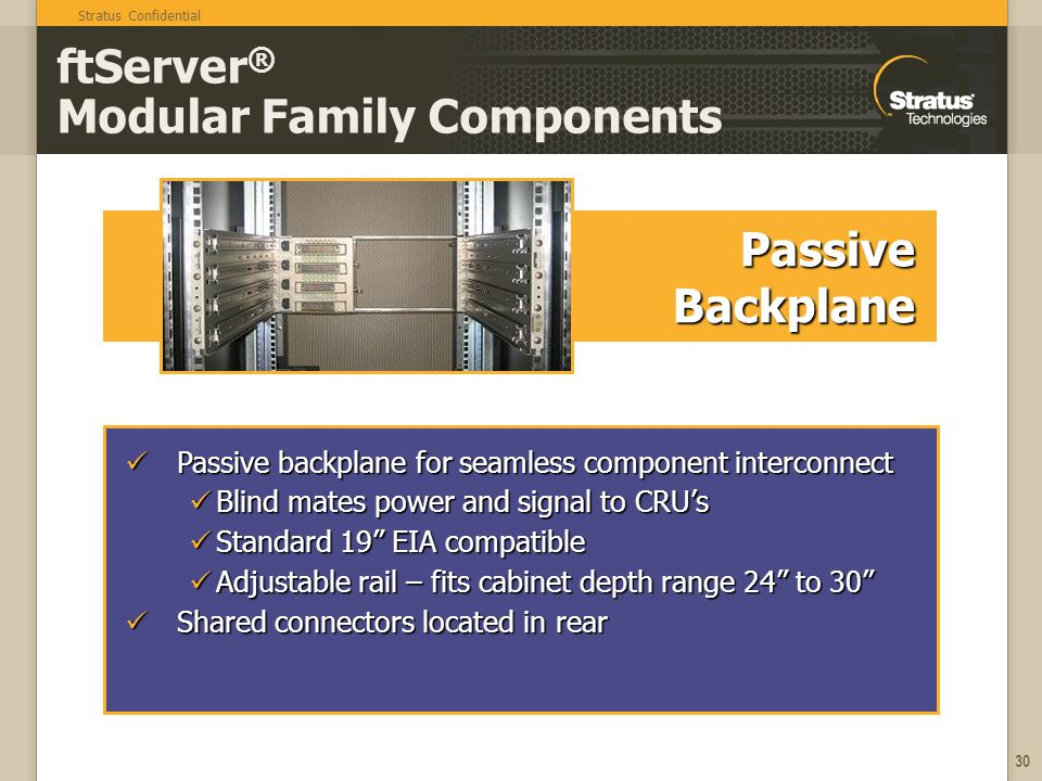 ftServer® Modular Family Components