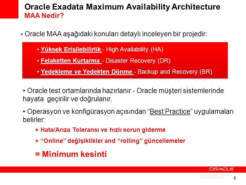 Oracle Exadata Maximum Availability Architecture MAA Nedir