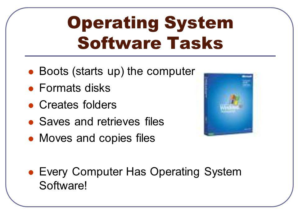 Operating System Software Tasks