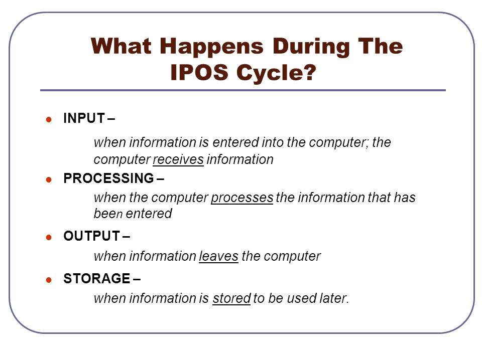 What Happens During The IPOS Cycle