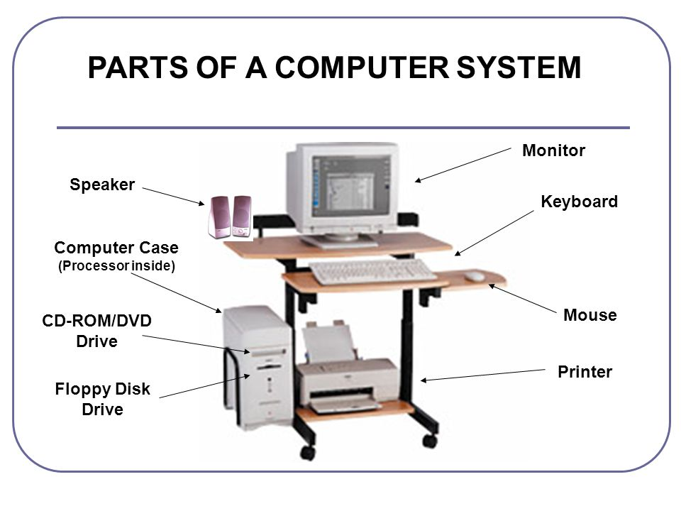 PARTS OF A COMPUTER SYSTEM Computer Case (Processor inside)