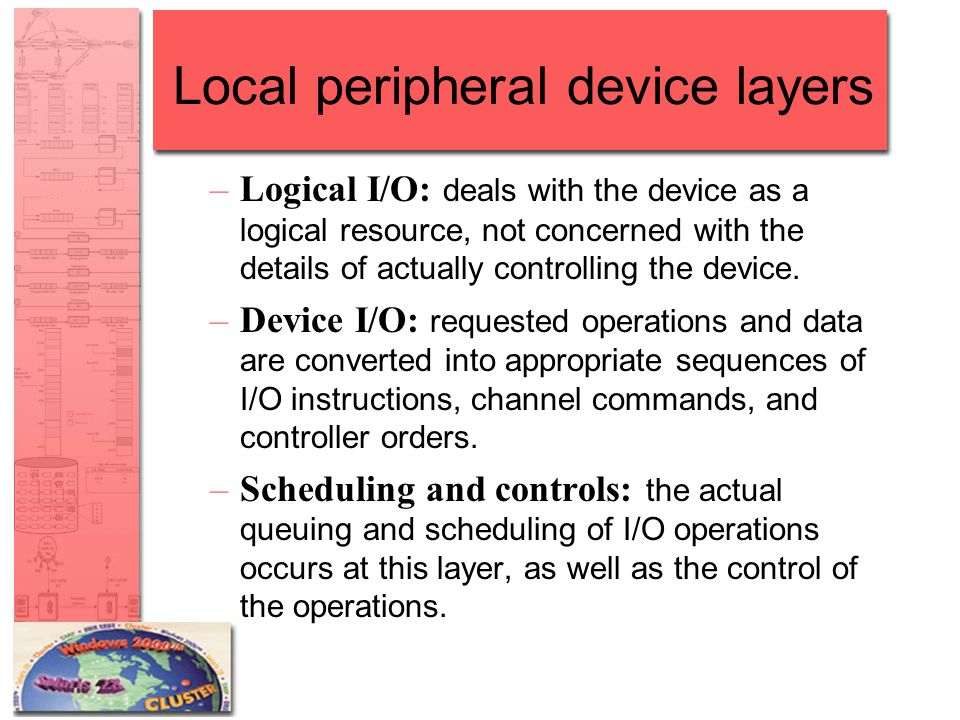 Local peripheral device layers