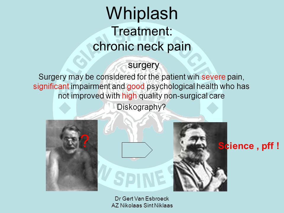 Whiplash Treatment: chronic neck pain