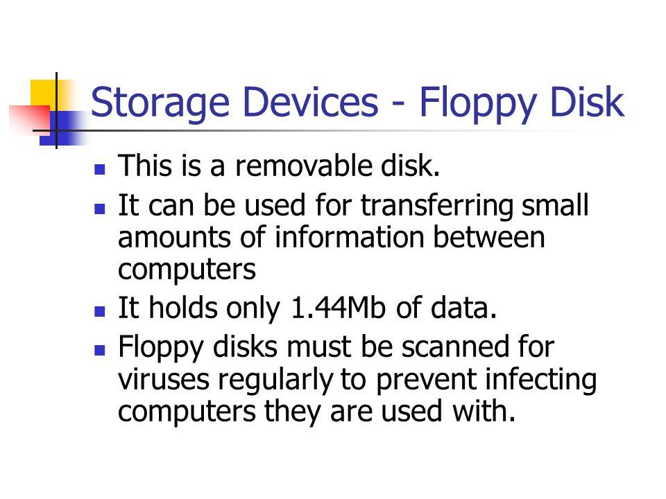 Storage Devices - Floppy Disk