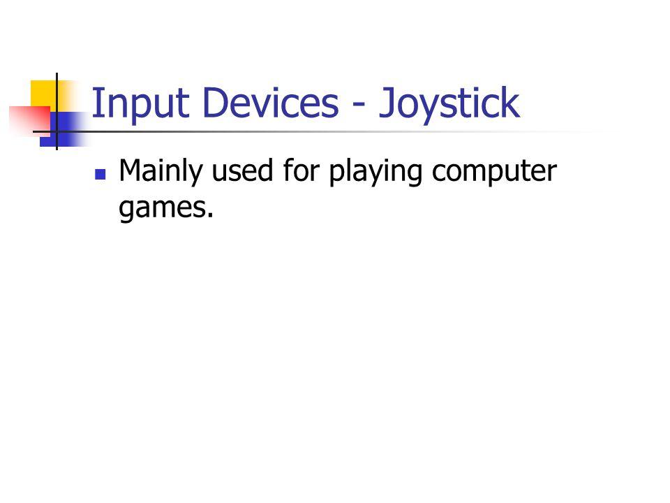 Input Devices - Joystick