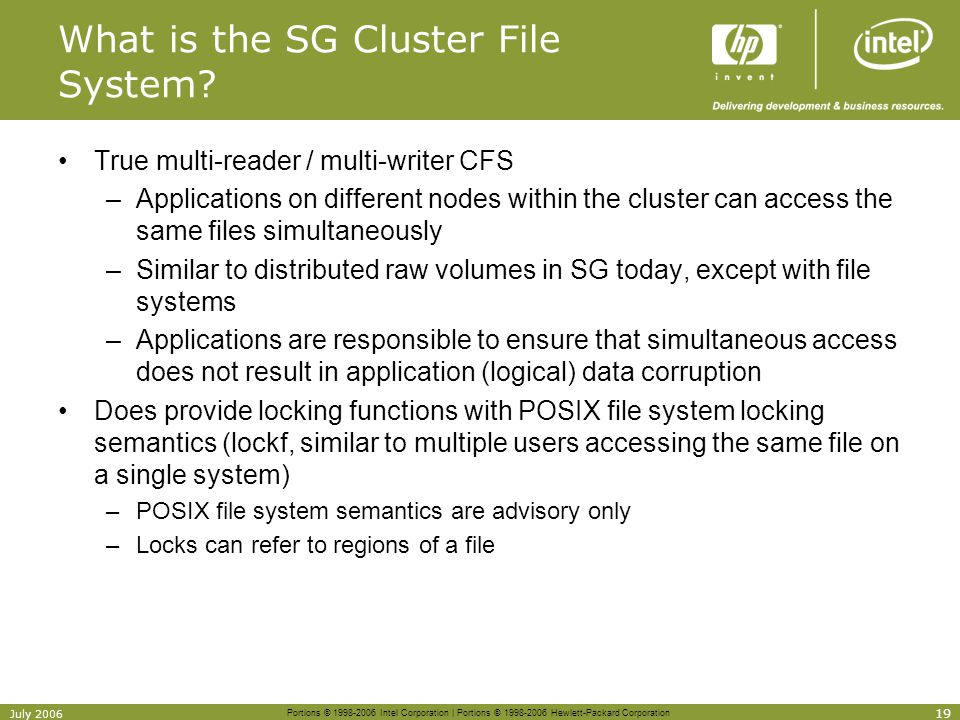 What is the SG Cluster File System