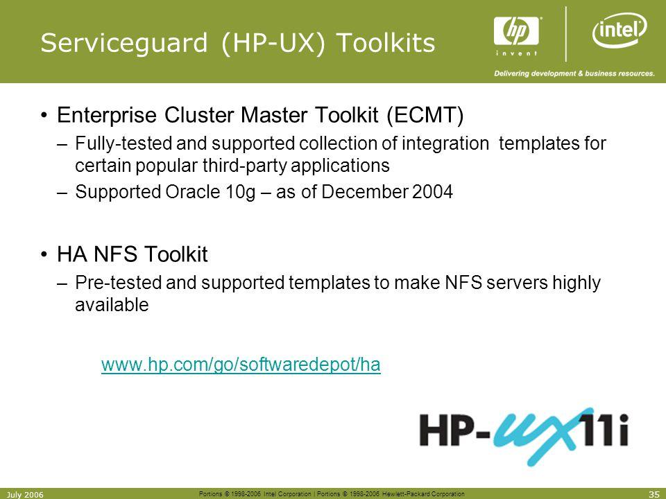 Serviceguard (HP-UX) Toolkits