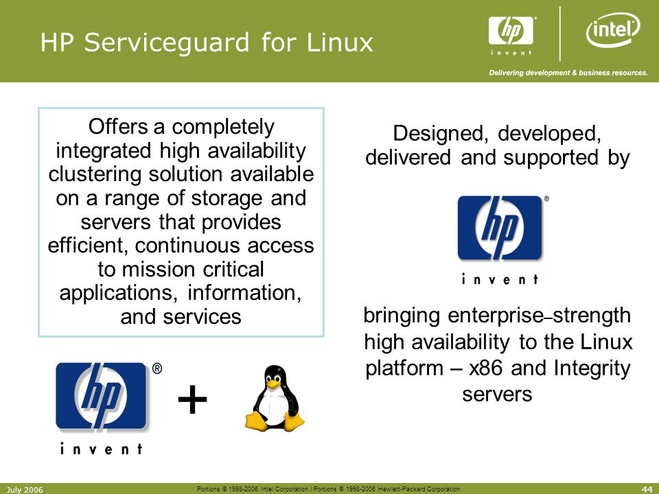 HP Serviceguard for Linux