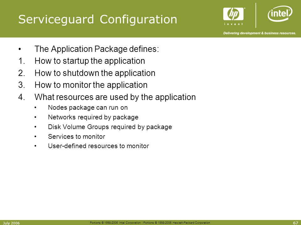 Serviceguard Configuration