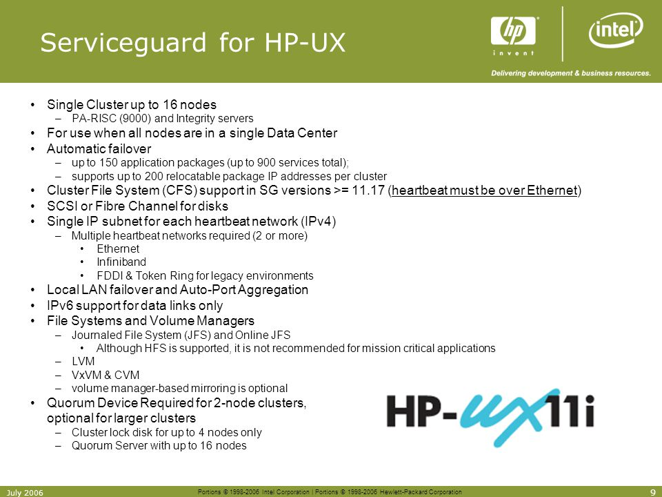 Serviceguard for HP-UX