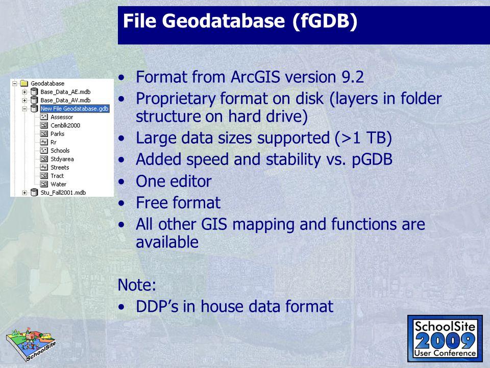 File Geodatabase (fGDB)