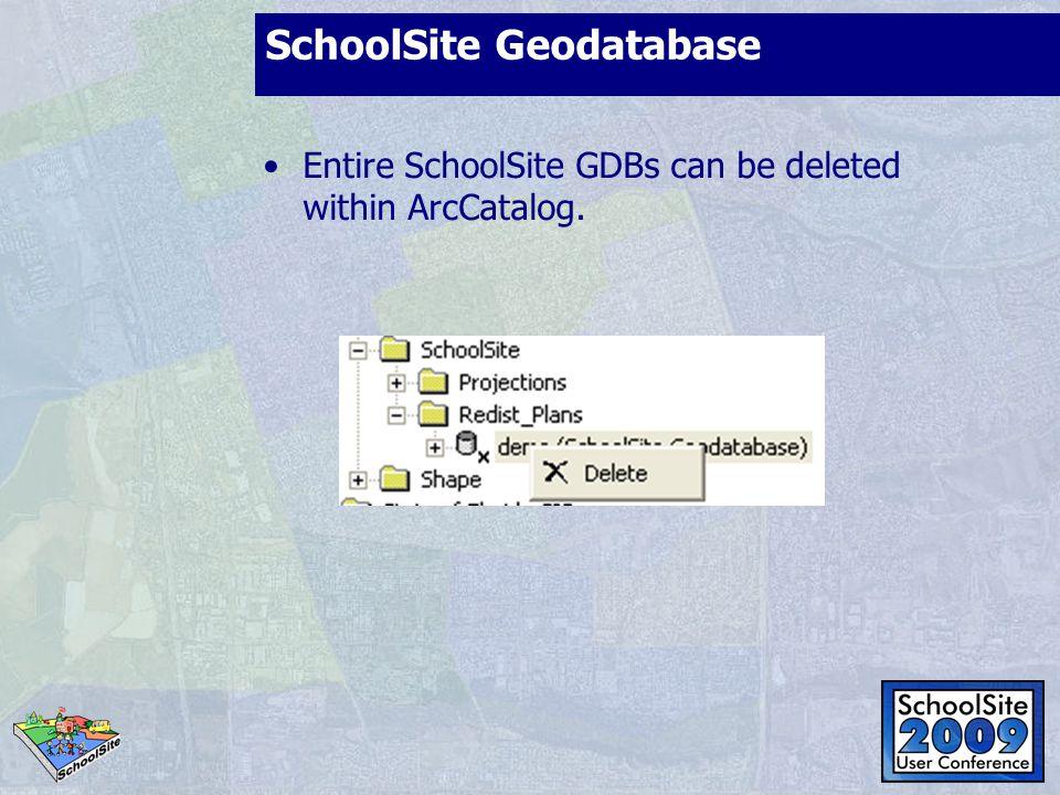 SchoolSite Geodatabase