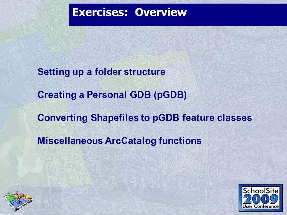 Exercises: Overview Setting up a folder structure