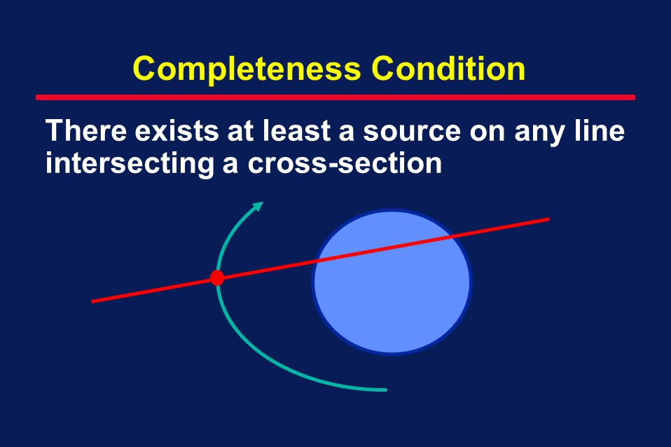 Completeness Condition