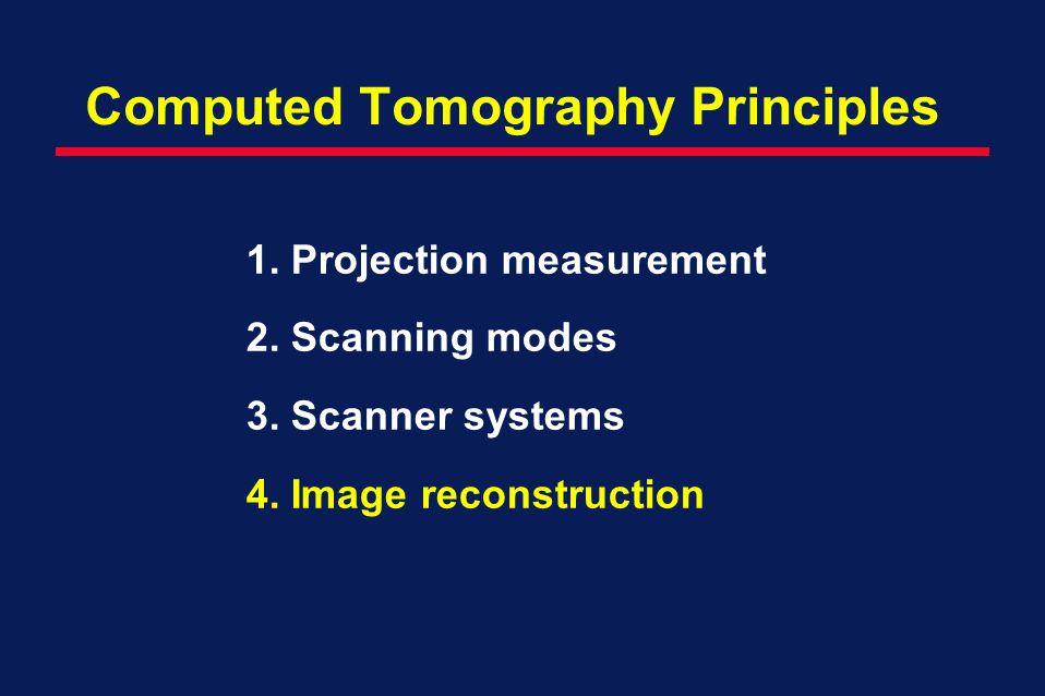 Computed Tomography Principles
