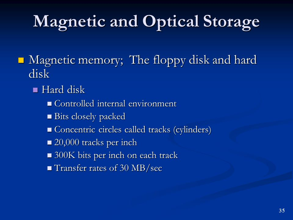 Magnetic and Optical Storage