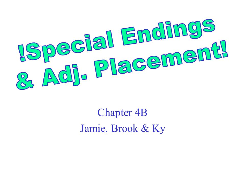 Chapter 4B Jamie, Brook & Ky