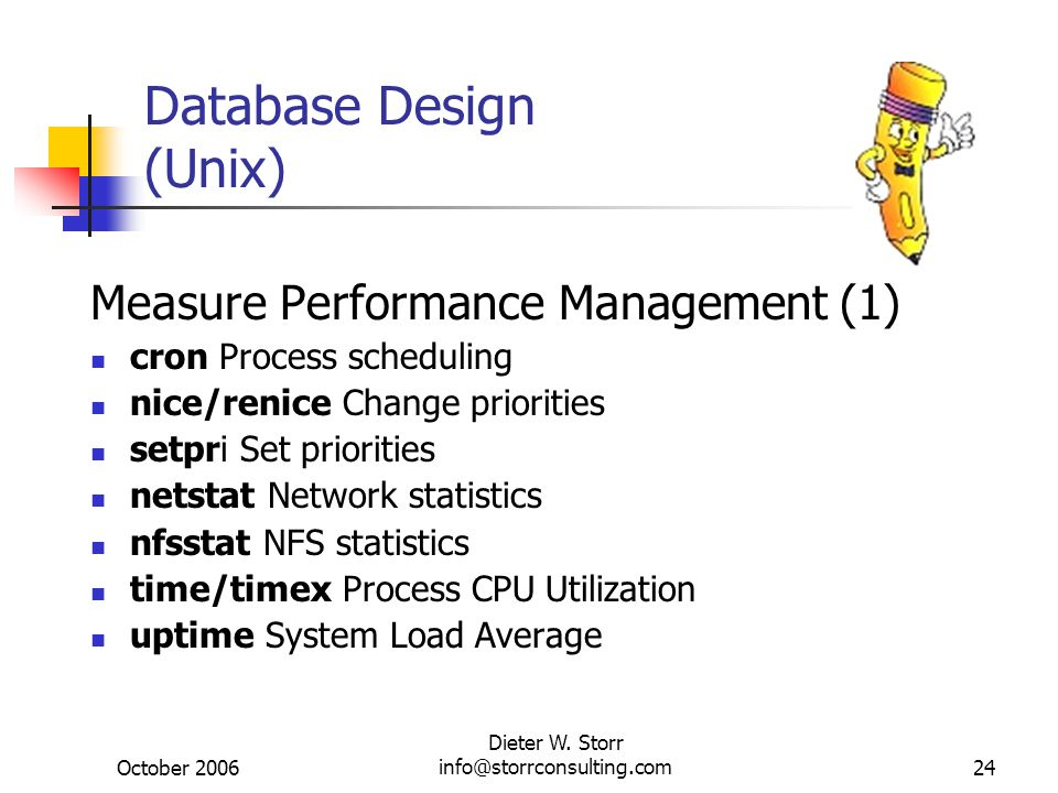 Database Design (Unix)