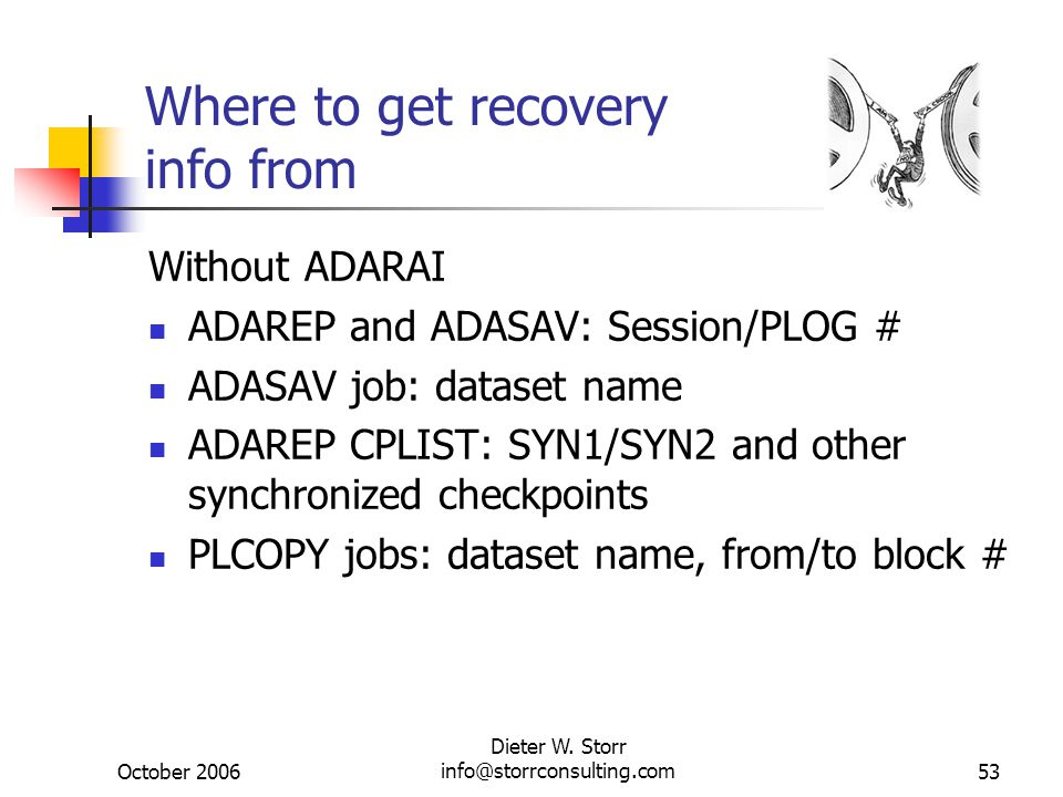 Where to get recovery info from