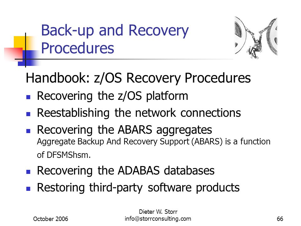 Back-up and Recovery Procedures